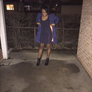 Navy Blue Bomber Jacket! Dress up or dress down! ✨